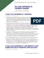 USA Passport Gender Change