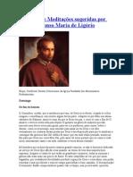 As Sete Meditações sugeridas por Santo Afonso Maria de Ligório