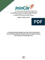 AS CONDIÇÕES DE PRODUÇÃO DE TEXTO ESCRITO EM LIVROS DIDÁTICOS DE LÍNGUA PORTUGUESA