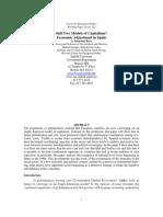 Still Two Models of Capitalism? Economic Adjustment in Spain (WPS 122) Sebastián Royo.