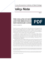 Collapse of Monetarism and Irrelevance
