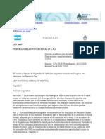 Ley 26657 - Ley Nacional de Salud Mental