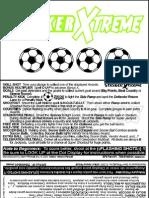 Stern 2000 Striker Xtreme Instruction Cards Multi Language [1]