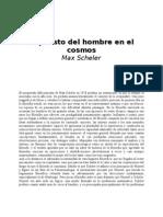 Scheler, Max - El puesto del hombre en el cosmos [Libros en español - filosofía]