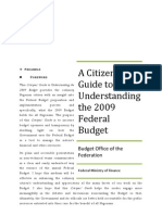 A Citizens Guide to Understanding the Budget