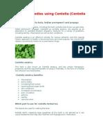 Herbal Remedies Using Centella Asiatica or Antanan