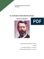 El Suicidio Como Hecho Social Segun Durkheim