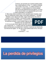 PERDIDA DE PRIVILEGIOS