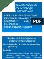 Análise da Infraestrutura e Sistemas Informatizados