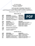 Festival Softball Schedule