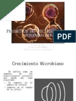 PARÁMETROS DE CRECIMIENTO PARA MICROORGANISMOS