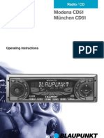 Blaupunkt Modena CD51 Operating Instructions
