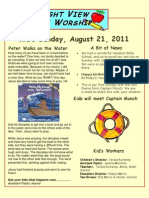 Parent's Weekly Newsletter Captain Munch Week 1
