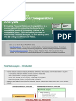 Financial Ratios and Comparables Analysis