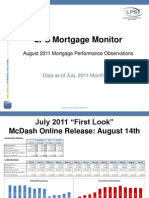LPS Mortgage Monitor Report August 2011