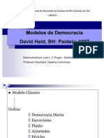 Modelos de Democracia David Held