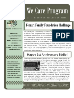 We Care Newsletter - March 2011