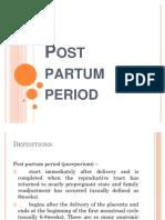 Post Partum Period