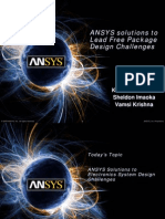 ANSYS Solutions to Lead Free Package Design Challenges