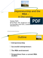 Is MBA important to be an Entrepreneur by Sanjay Nath and Rajat Mathur