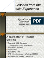 Ten Lessons From Pinnacle Systems by Ajay Chopra