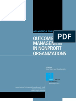 Outcome Management in Nonprofit Organizations