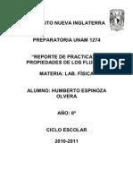 Practica  propiedades de fluidos (física)