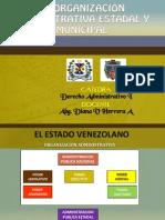 La Organización Administrativa Estadal y Municipal