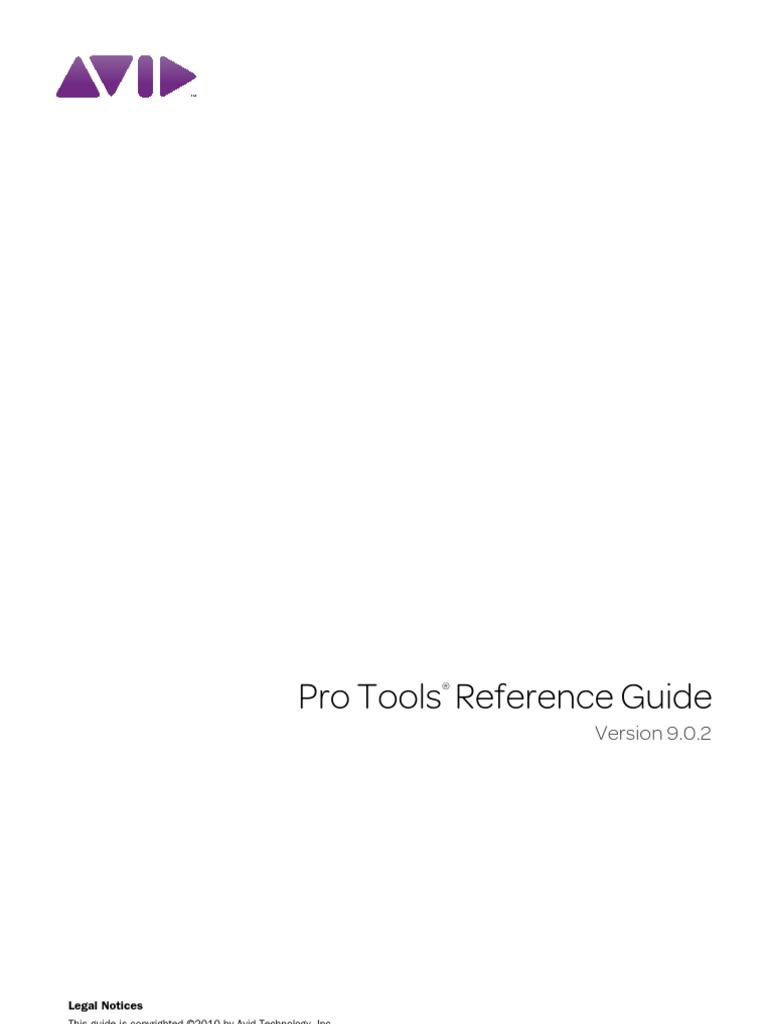 pro tools reference guide v902 71009 sound technology audio rh scribd com pro tools reference guide 12 pro tools reference guide 2018.7