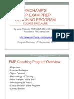 PMP Coaching Program Course Brochure