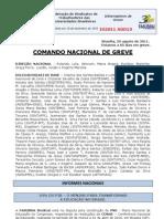 Informe de 29 de agosto do Comando Nacional de Greve
