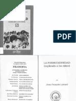 La Posmodernidad (explicada a los niños) - Jean-Francois Lyotard (a doble página)
