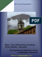 Runa-Uywa Murunchay en Sarhua; Víctor Fajardo- Ayacucho. Una experiencia histórica