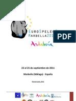 Dossier Eurospeleoforum Actualizado 21-06-2011