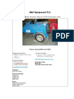Drain Cleaner, Water Jetter For Sale (UEQ150109C)
