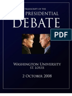 Vice Presidential Debate Transcript