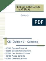 Concrete as Building Material