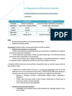 Organização e Regulação do Património Genético