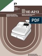 Manual Sharp XE-A213