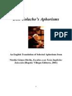 Don Colacho's Aphorisms English)