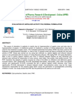 Full PDF Aericle l Evaluation of Antiulcer Activity Polyherbal Formulation
