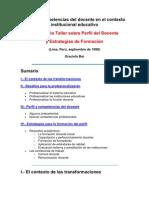 Perfil y Competencias Del Docente en El Contexto Institucional Educativo Otro Autor