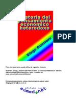 Diego Guerrero, Historia del Pensamiento Económico Heterodoxo