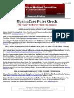 ObamaCare Pulse Check