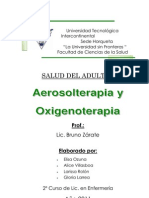Aerosolterapia y Oxigenoterapia