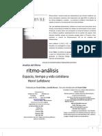 Lefebvre, H. Ritmo-analisis español