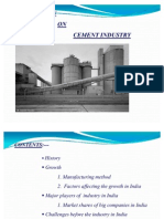Presentation on Cement Industry