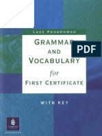 Grammar for FCE