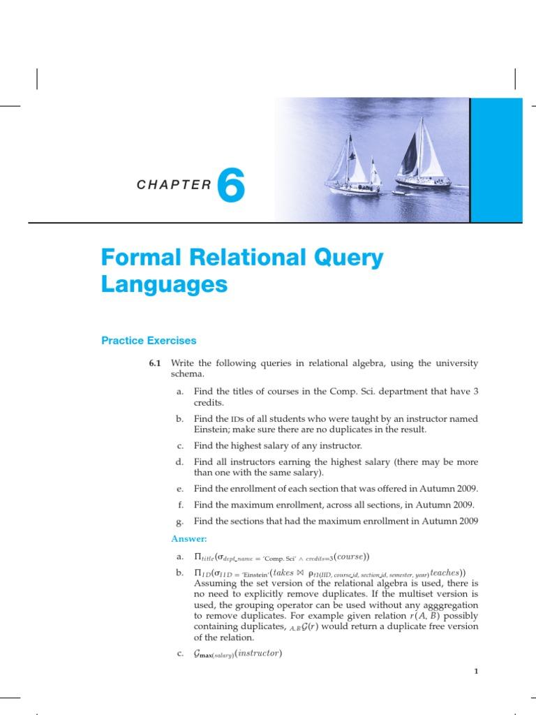 6s | Relational Model | Software Design