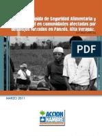 Informe SAN población desalojada en Alta  Verapaz
